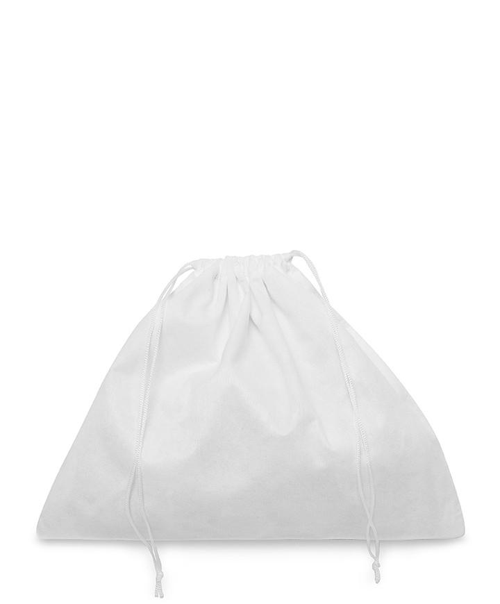 Sacchetto Bianco 35x30cm in Viscosa per Piccola Pelletteria, Pochette e Clutch