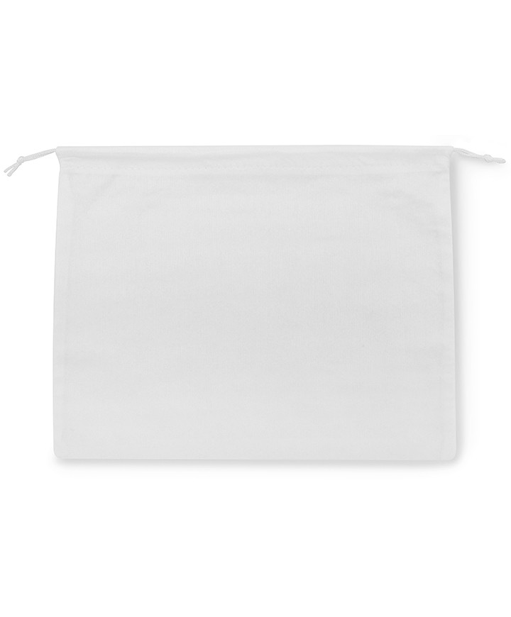 White Viscose 35x30cm Bag for Small Leather Goods, Clutches and Clutches