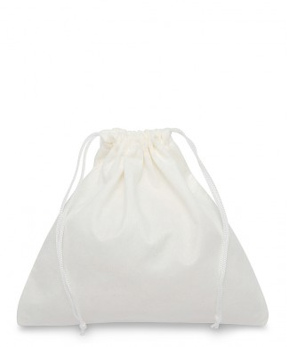 White Viscose 40x38cm Bag for Ankle Boots, Bags and Leather Goods