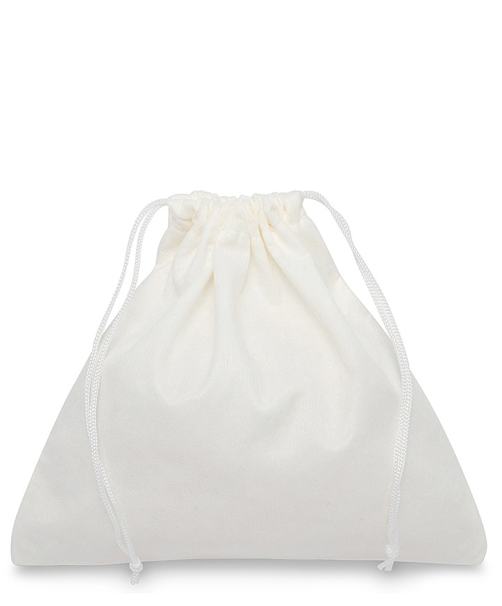 Sacchetto Bianco Medio Quadrato in Viscosa 50x50cm per Borse e Pelletteria