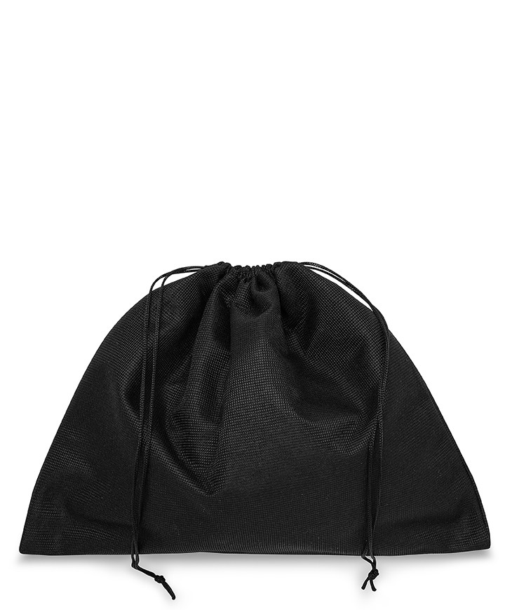 Polyester TNT Black Bag 30x25cm for Small Leather Goods, Pochette and Clutch Bags