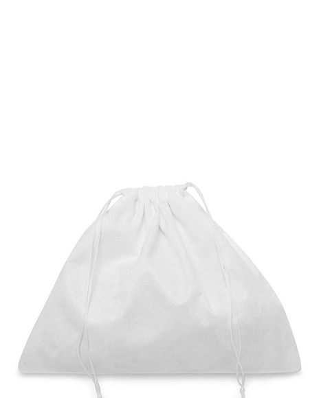 White Viscose Bag 30x25cm for Small Leather Goods, Pochette and Clutch Bags